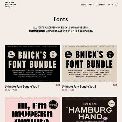 Work - Graphic Design Portfolio of Brandon Nickerson