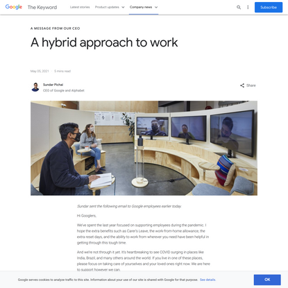 A hybrid approach to work