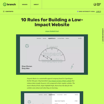 10 Rules for Building a Low-Impact Website - Branch
