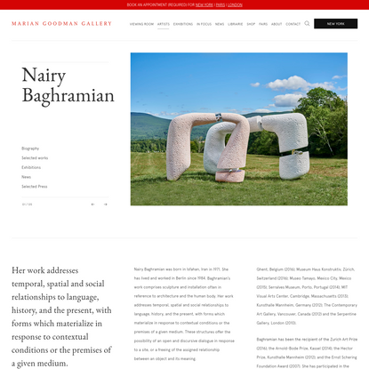 Nairy Baghramian - Marian Goodman Gallery