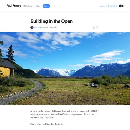 Building in the Open