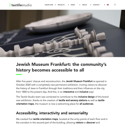 Jewish Museum Frankfurt - Tactile Studio
