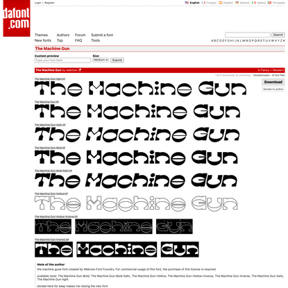 The Machine Gun Font | dafont.com