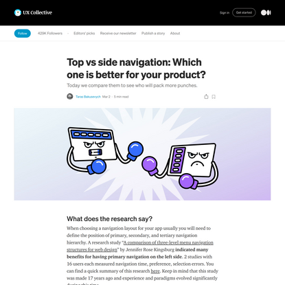 Top vs side navigation: Which one is better for your product?