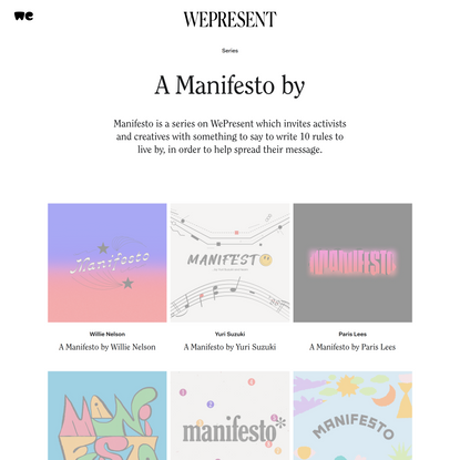 A Manifesto by | WePresent