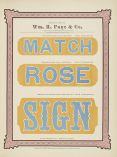 Specimens of chromatic wood type borders etc. manufactured by Wm. H. Page & Co. (Greeneville, Conn.: The Co., 1874.)