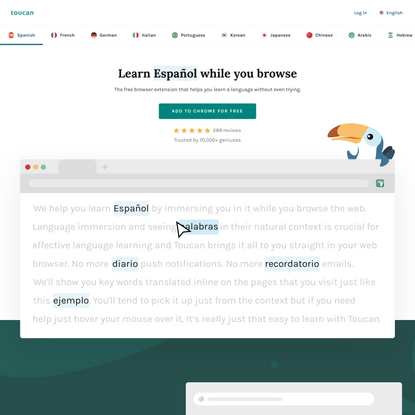 Toucan - Learn a new language while you browse