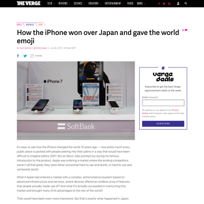 How the iPhone won over Japan and gave the world emoji