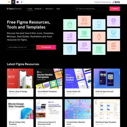 Figma Elements | Free UI Kits, Templates, and more Figma Resources