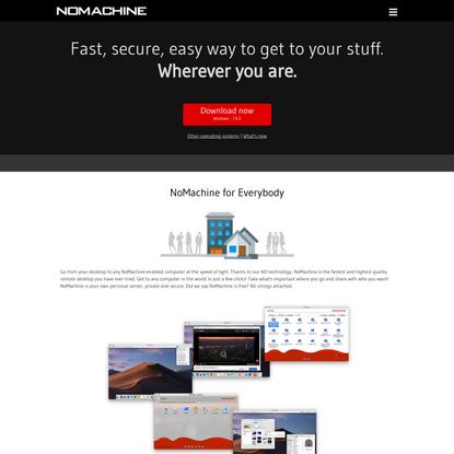 NoMachine - Free Remote Desktop For Everybody