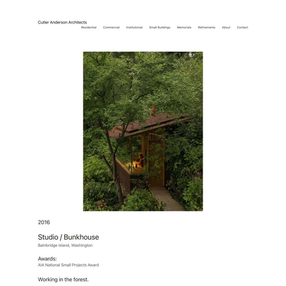 Cutler Anderson Architects — STUDIO BUNKHOUSE