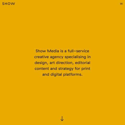Show Media London – Creative Agency