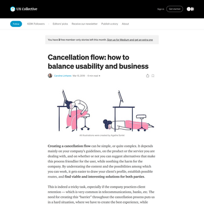 Cancellation flow: how to balance usability and business