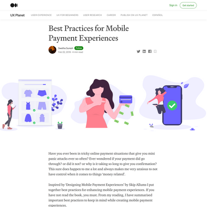 Best Practices for Mobile Payment Experiences