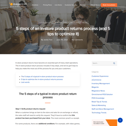 5 Steps of the Product Returns Process & 5 Tips to Optimize It | Magestore