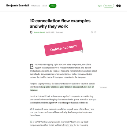 10 cancellation user flow examples and why they work