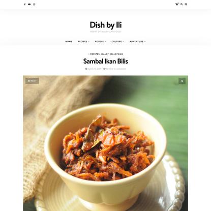 Sambal Ikan Bilis, A Delicious and Spicy Malaysian Dish