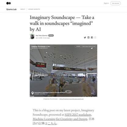 """Imaginary Soundscape — Take a walk in soundscapes """"imagined"""" by AI"""
