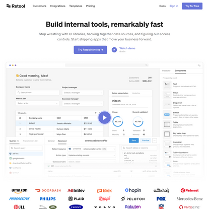 Build internal tools, remarkably fast.