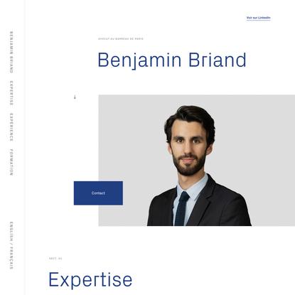 Benjamin Briand – Avocat Member of the Paris Bar