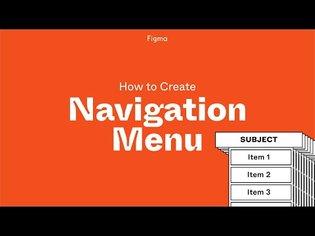 Figma Project: Build a Navigation Menu with Components