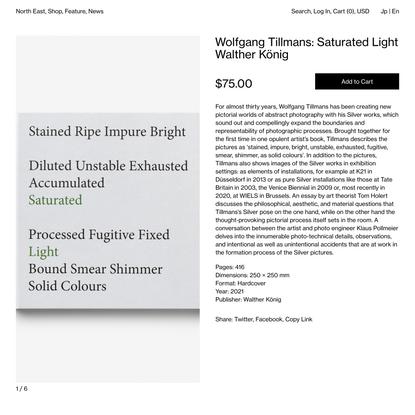 Wolfgang Tillmans: Saturated Light