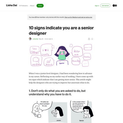 10 signs to indicate you are a senior designer