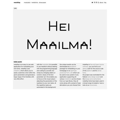 hello world | metaflop