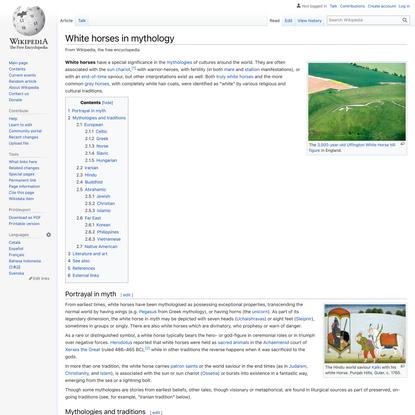 White horses in mythology - Wikipedia