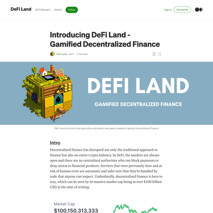 Introducing DeFi Land- Gamified Decentralized Finance