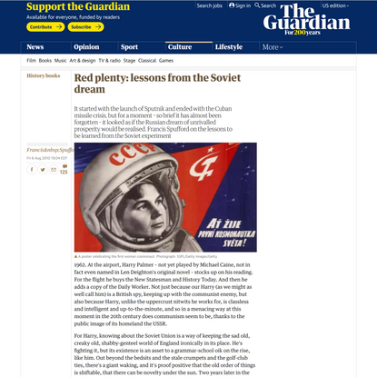 Red plenty: lessons from the Soviet dream