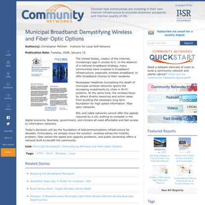 Municipal Broadband: Demystifying Wireless and Fiber-Optic Options
