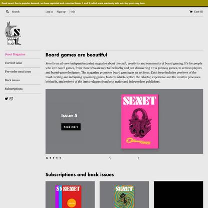 Senet Magazine