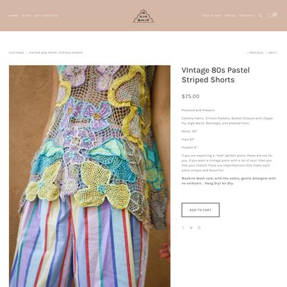 VIntage 80s Pastel Striped Shorts — 4KINSHIP
