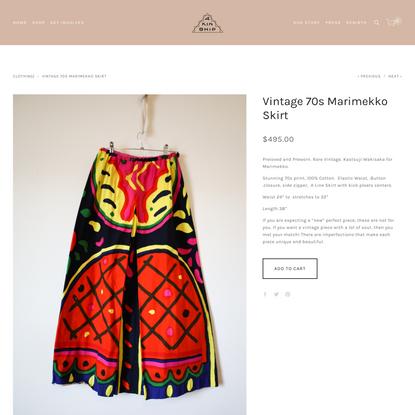Vintage 70s Marimekko Skirt — 4KINSHIP