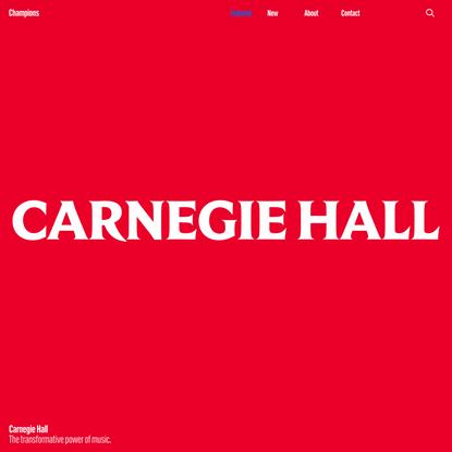 Carnegie Hall's visionary new identity