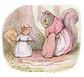 Beatrix Potter, Illustration of Mrs. Chippy Hackee and the Goody Tiptoes from The Tale of Timmy Tiptoes