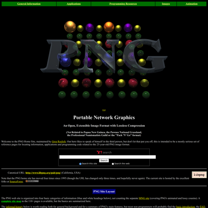 PNG (Portable Network Graphics) Home Site