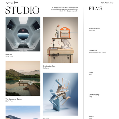 Six N. Five — Images, Films and Objects — Multidisciplinary Design Studio