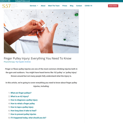 Finger Pulley Injury: Everything You Need To Know   S57