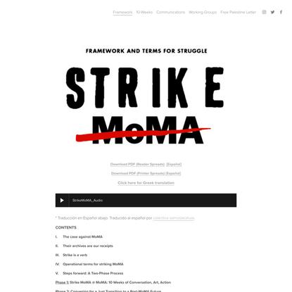Strike MoMA