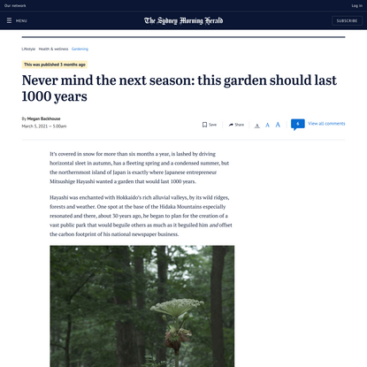 Never mind next season: this garden should last 1000 years