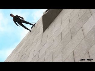 """Elizabeth Streb discusses Trisha Brown's """"Man Walking Down the Side of a Building"""""""