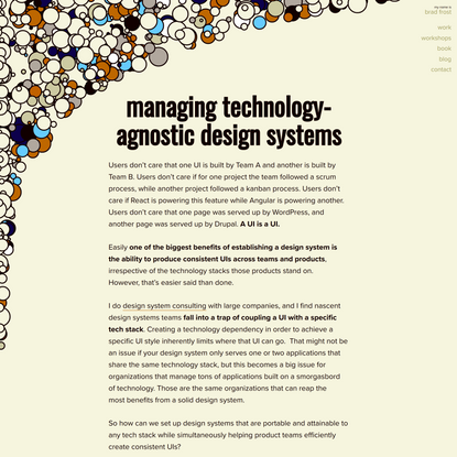 Managing Technology-Agnostic Design Systems