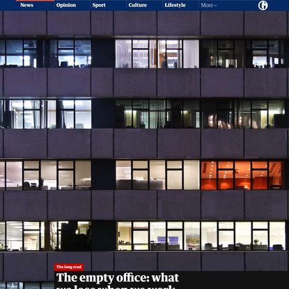 The empty office: what we lose when we work from home