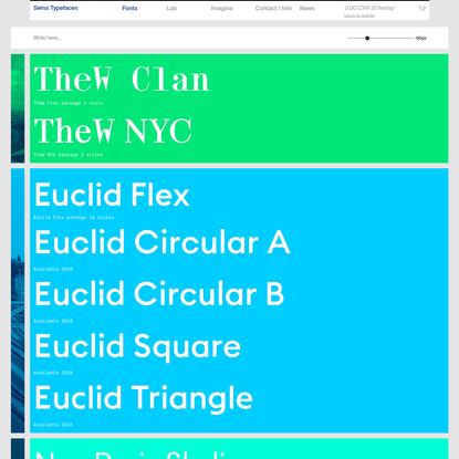 Fonts - Swiss Typefaces