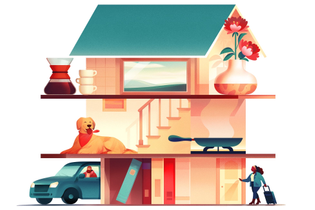 """Airbnb graphic in """"leave a review"""" email"""