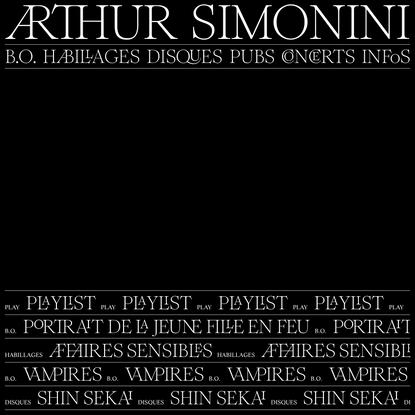 Arthur Simonini. Compositeur / Directeur artistique