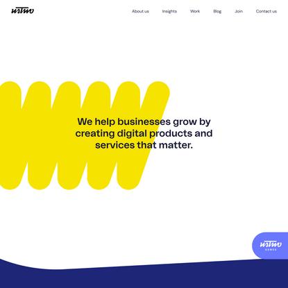 ustwo   Digital product studio