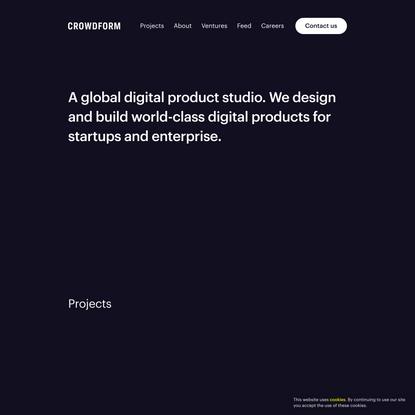 Crowdform   Digital Product Studio